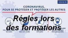 Les règles contre le COVID19 du centre de formation...